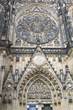 The exterior facade of the cathedral of St Vitus in Prague Royalty Free Stock Photos