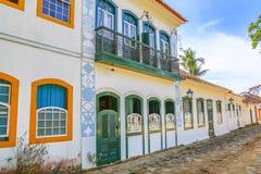 Exterior facade colonial house Stock Photography