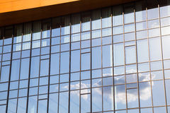 Exterior facade of a modern glass office block Royalty Free Stock Image