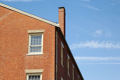 Exterior Facade of a Multi-Story Brick Building Royalty Free Stock Photography