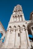 Exterior facade of  public landmark Diocletian`s Palace, Split,. Exterior facade of outdoors public landmark Diocletian`s Palace, Split, Croatia Stock Images