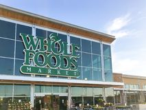 Exterior facade of Whole Foods Market store in Irving, Texas, US Stock Image