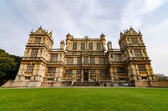 Wollaton Hall, Nottingham. The exterior and facade of Wollaton Hall in Wollaton Park, Nottingham, UK in April 2019 royalty free stock photo