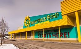 Exterior - Yellow Brick Road Casino - Chittenango, New York. Exterior facade of Yellow Brick Road Casino designed to celebrate `The Wonderful Wizard of Oz` film stock photos