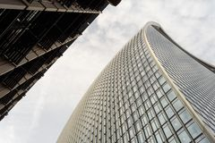 Exterior 20 Fenchurch Building Abstract Royalty Free Stock Photography