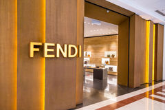 Exterior of the Fendi boutique at KLCC Kuala Lumpur Royalty Free Stock Images