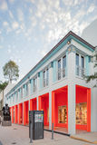 Exterior of Fendi Shop in Midtown Miami. MIAMI, FL - DECEMBER 31 2014 - Miami's central art district in the Wynwood and Edgewater neighborhoods features an urban Royalty Free Stock Photos
