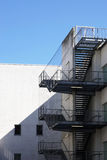 Exterior fire exit stairs or staircase Stock Image