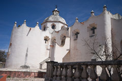 The exterior of the fortified chapel of Atotonilco royalty free stock image