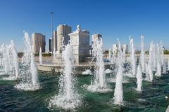 Exterior of the fountain in Astana, Kazakhstan. Stock Images