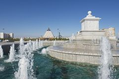 Exterior of the fountain in Astana, Kazakhstan. Royalty Free Stock Image