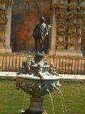Exterior fountain from a Garden of Alcazar stock images