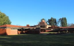 Exterior, Frank Lloyd Wright Building Wingspread, Racine Wisconsin. The home was built for the president of the S.C. Johnson company in Racine, WI and was stock image