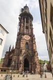 Exterior of Freiburg Munster cathedral in Freiburg im Breisgau Stock Photo