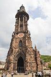 Exterior of Freiburg Munster cathedral in Freiburg im Breisgau Royalty Free Stock Photo