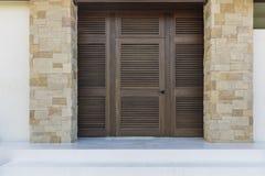 Exterior front door, brown Stock Image