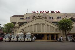 Exterior front view of the Xuan Market royalty free stock photo