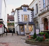 Extremely Crooked Market House in Windsor England stock photography