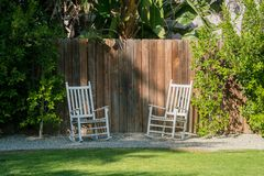 Exterior garden of a luxury house Royalty Free Stock Photography