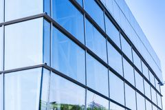 Exterior of a glass building Royalty Free Stock Images