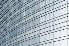 Exterior of glass office building Royalty Free Stock Images