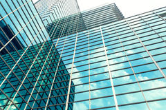 Exterior of glass office building Royalty Free Stock Photo