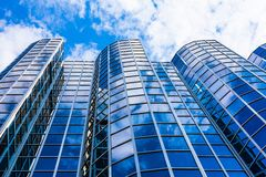 Exterior of glass office building. Modern skyscrapers Royalty Free Stock Image