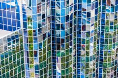 Exterior of glass office building. Modern skyscrapers Royalty Free Stock Photo