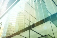 Exterior of glass residential building.business concept. copy space stock photo