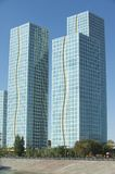 Exterior of the Grand Alatau residential buildings complex in Astana, Kazakhstan. Royalty Free Stock Image