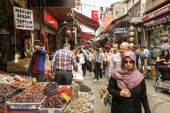 Exterior Grand Bazaar in Istanbul with unidentified people. Royalty Free Stock Image