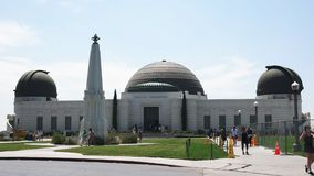 Exterior of griffith observatory in the hollywood hills