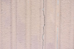 Exterior Grooved Wall With Crack Stock Image