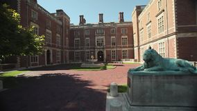 Exterior and grounds of Webb Institute (1 of 6). A view or scene of Education stock footage