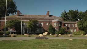 Exterior and grounds of Webb Institute (5 of 6). A view or scene of Education stock footage