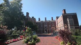 Exterior and grounds of Webb Institute (6 of 6). A view or scene of Education stock video