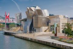 Exterior of The Guggenheim Museum in Bilbao Stock Photo