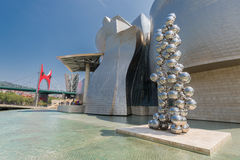 Exterior of The Guggenheim Museum in Bilbao Stock Image