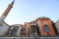 Istanbul/Turkey-04.03.2019:Exterior of Hagia Sophiya,Aya Sofiya. Exterior of Hagia Sophiya,Aya Sofiya royalty free stock images