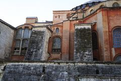 Istanbul/Turkey-04.03.2019:Exterior of Hagia Sophiya,Aya Sofiya. Exterior of Hagia Sophiya,Aya Sofiya stock images
