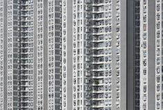 High rise residential building in Hong Kong city. Exterior of high rise residential building in Hong Kong city royalty free stock photography