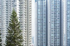 High rise residential building in Hong Kong city Stock Image