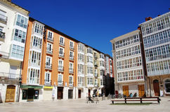 Exterior of historic buildings, square of Burgos Royalty Free Stock Image