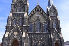 Exterior of Historic Church in Milwaukee Stock Photos