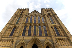 Exterior of an historic Ripon Cathedral in North Yorkshire, England. Royalty Free Stock Photos