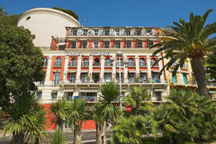 Exterior of the historical building of the Hotel Suisse in Nice, France. Stock Images