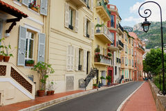 Exterior of the historical buildings in Monte Carlo, Monaco. Royalty Free Stock Photo