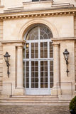Exterior of a historical townhouse in Paris Stock Images