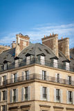 Exterior of a historical townhouse in Paris Stock Photography