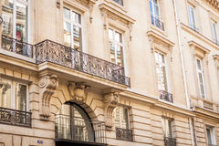 Exterior of a historical townhouse in Paris Royalty Free Stock Image